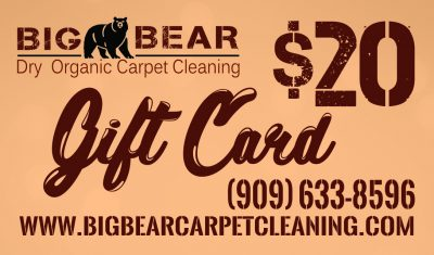 gift card carpet cleaning in Big Bear California
